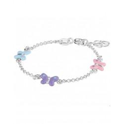 Zilveren Armband vlinder 13 + 2 cm - 40322