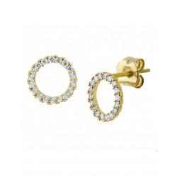 14krt gouden oorbellen - 41962
