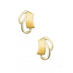 14krt gouden oorbellen - 41972