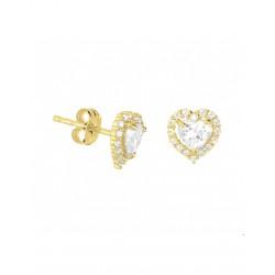 14krt gouden oorbellen met zirkonia - 42017