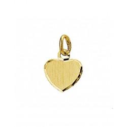 Gouden Graveerhartje mat gediamanteerd - 42085
