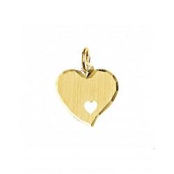 Gouden Graveerhanger mat gediamanteerd - 42088