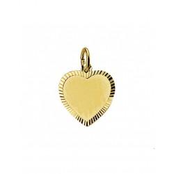 Gouden Graveerhartje mat gediamanteerd - 42089