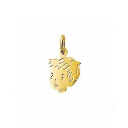 14krt gouden graveer hanger - 42095