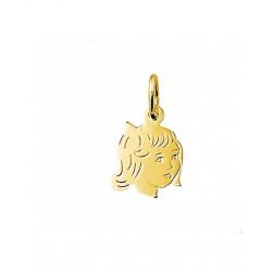 14krt gouden graveer hanger - 42096