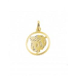 Gouden Hanger jongen gediamanteerd - 42097