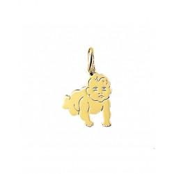 14krt gouden graveer hanger - 42099