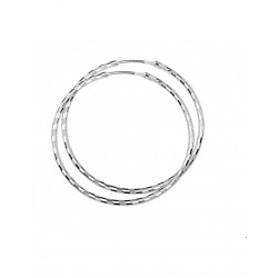 Zilver Creolen ronde buis 925 - 43118