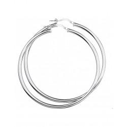 Zilver Creolen ronde buis 925 - 43125