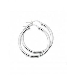 Zilver Creolen ronde buis 925 - 43126