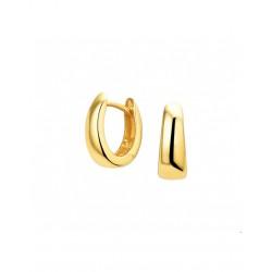 14krt gouden klap creool - 43151
