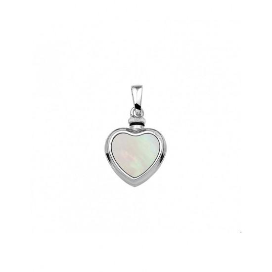 Zilveren Hanger hart parelmoer - 43352