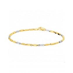 Gouden Bicolor armband 19,5cm - 44793