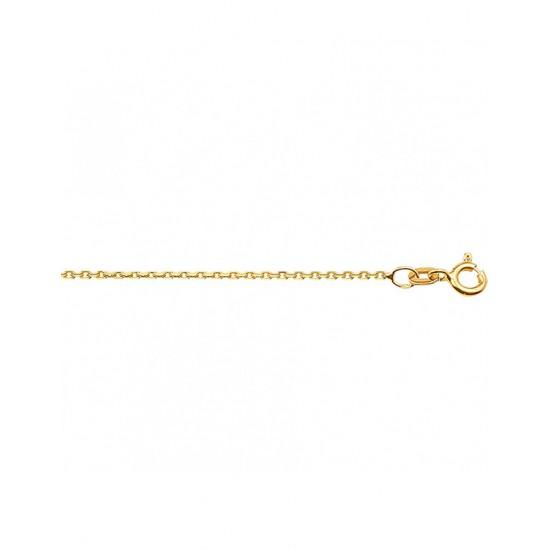Goldplated Collier anker gediamanteerd 42 cm - 45021