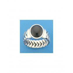 925 zilveren ring met onix maat 20.25 1101617 - 45558