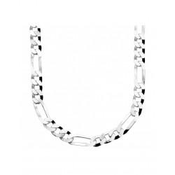 Zilveren collier figaro 50 cm - 46252