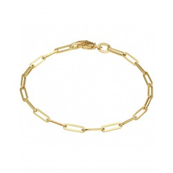 Gouden Armband paperclip 3,0 mm 18 cm - 46511