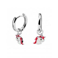 Zilveren 925 oorbellen eenhoorn - 46546