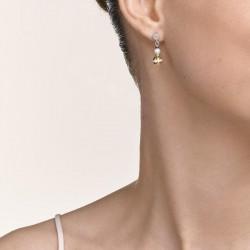 Coeur de Lion Earrings Ball Gemstones & Crystal Pearls grey-gold 2,2 cm - 48366