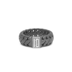 Buddha to Buddha Ring Ben Small Ring Black Rodium Silver 542BRS MAAT 22 - 46069