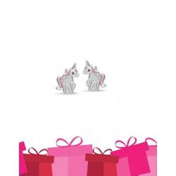 Bellini Zilveren oorknopjes eenhoorn - 45733