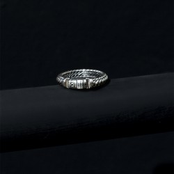 Buddha to Buddha 613 Ben XS Lock Ring Silver MAAT 17 - 48179
