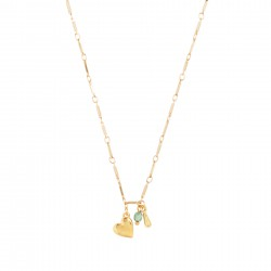 & anne Necklace Drip Green Bead Gold plating - 47618
