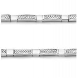 Rosa di luca armband met zirkonia MAAT 19cm - 47154