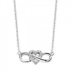 Rosa di luca Zilveren armband Infinity hart met zirkonia MAAT 16,5-18 - 47868