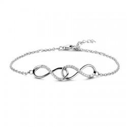 Rosa di luca zilveren Armband met zirkonia 18cm - 47933