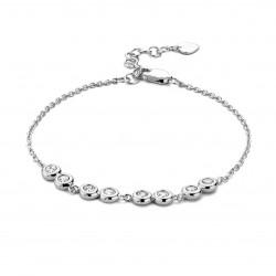 Rosa di luca zilveren Armband met zirkonia 18cm - 47935