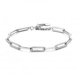 Rosa di luca zilveren Armband met zirkonia 18cm - 47936