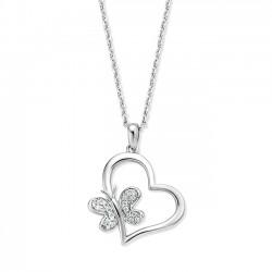 Rosa di luca hart met vlinder collier met zirkonia MAAT 45cm - 47164