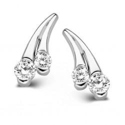 Rosa di luca vallende sterren oorstekers met zirkonia - 47163