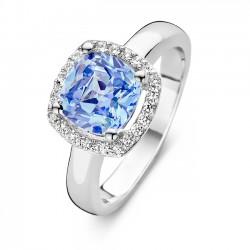 Rosa di luca Ring Blauw met zirkonia MAAT 18 - 47834