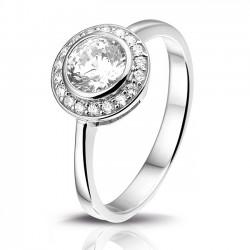 Rosa di luca ring rond met zirkonia MAAT 16.5 - 47166