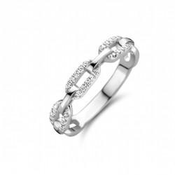 Rosa di luca ovaal schakel ring met zirkonia MAAT 18 - 46745
