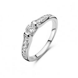 Rosa di luca Zilveren Ring met zirkonia Maat 17,5 - 47950