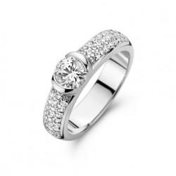 Rosa di luca Zilveren Ring met zirkonia Maat 18,5 - 47954