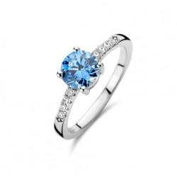 Rosa di luca Zilveren Ring met zirkonia Maat 17,5 - 47951