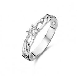 Rosa di luca Zilveren Ring met zirkonia Maat 18 - 47955