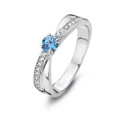 Rosa di luca Zilveren Ring met zirkonia Maat 18,5 - 47953