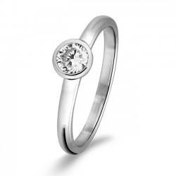 Rosa di luca Zilveren Ring met zirkonia Maat 17,5 - 47949