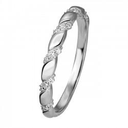 Rosa di luca gevlochte Ring met zirkonia MAAT 17,5 - 47170