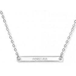 Zilveren Collier met hanger forever MAAT 40 + 5 cm - 47141