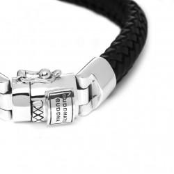 Buddha to Buddha 816BL-F Nurul Small Leather Black Bracelet MAAT 21cm - 41009