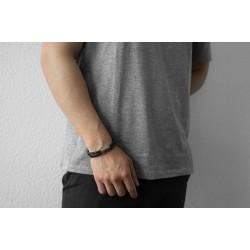 AZE JEWELS Armband IRON FOUR STRING BROWN MAAT 21cm - 46457