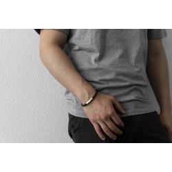 AZE JEWELS Armband IRON SINGLE STRING BLACK MAAT 21cm - 48218