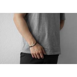 AZE JEWELS Armband IRON SINGLE STRING BROWN MAAT 21cm - 48219