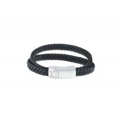 AZE JEWELS Armband DOUBLE FLAT STRING BLACK 21cm - 45977